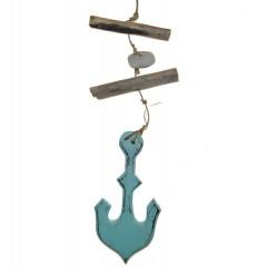 Hanger met aqua anker, 35cm