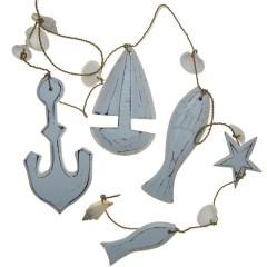 Rustieke witte strandslinger, 100cm