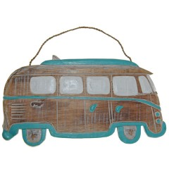 Laatste!  VW surf bus turquoise, 30cm