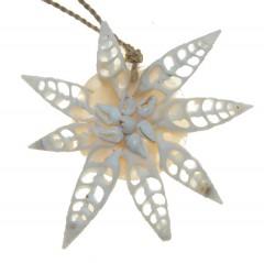 Schelpenhanger wit , per stuk, 10cm