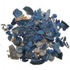 Blauwe tinten naturel mix met schelpen, 240 gram