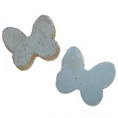 Witte vlinder van cocos, 4cm, 3 stuks