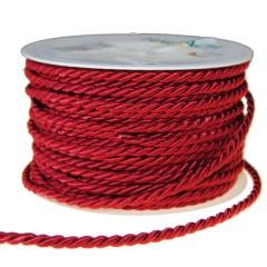 Zijdeband, bordeaux per meter, 4mm