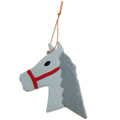 Weer op voorraad! Houten hanger, Schimmeltje, paard, 8cm