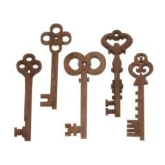 Setje mini sleutels, 3cm