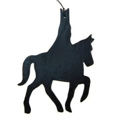 Houten hanger, Sinterklaas op paard, 11cm