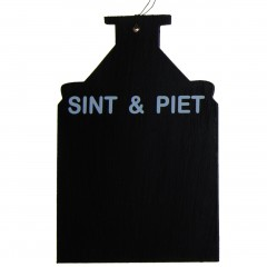 Krijtbordje, Sint & Piet, 18cm
