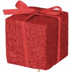 Kado foam glitter rood, 5cm
