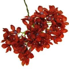 Oranje hortensia bloemetjes 3 takjes 23cm